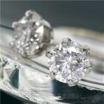 【プラチナ一粒ダイヤモンドピアス0.85ct鑑別書付】プラチナとダイヤが織りなす輝き