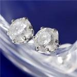 【プラチナ一粒ダイヤモンドピアス0.8ct鑑別書付】可憐な輝きに包まれる喜び